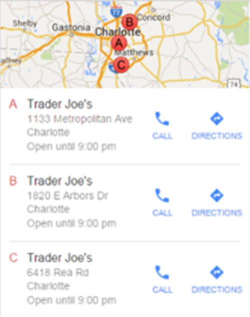 """Kết quả 1 của truy vấn """"Trader Joes"""""""